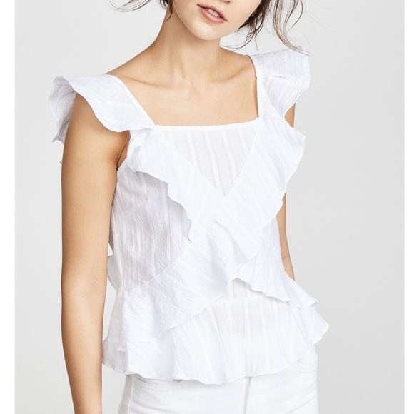 675c720461f49d Moon River cross ruffle blouse. M_5b267ae7aa571937b635cac5